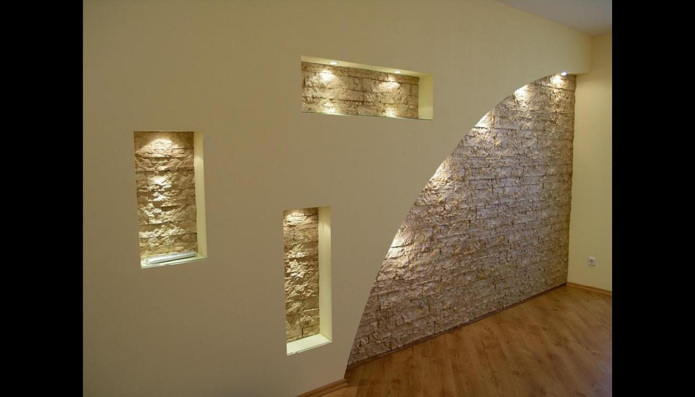Стены из гипсокартона своими руками фото в